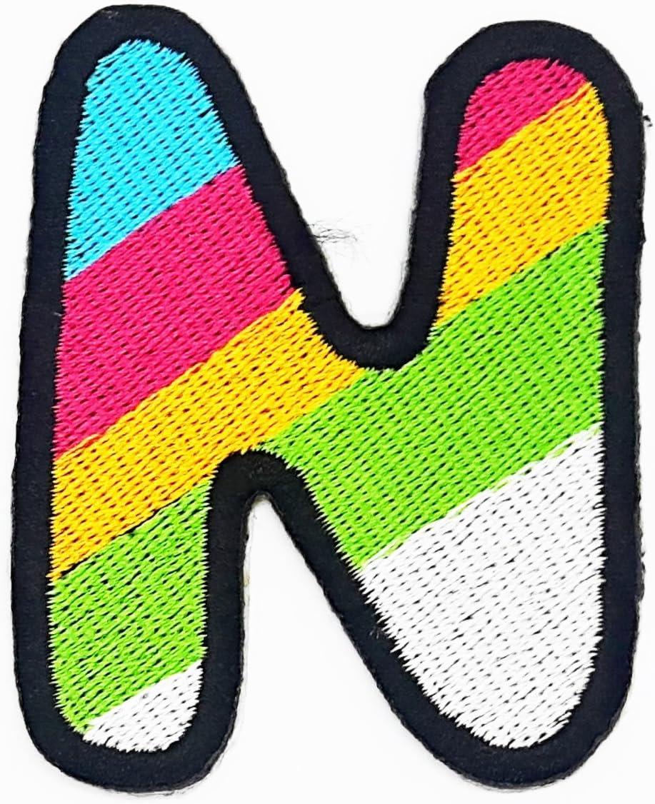 Parche de Rabana con la letra N del arcoíris en inglés, diseño de ...