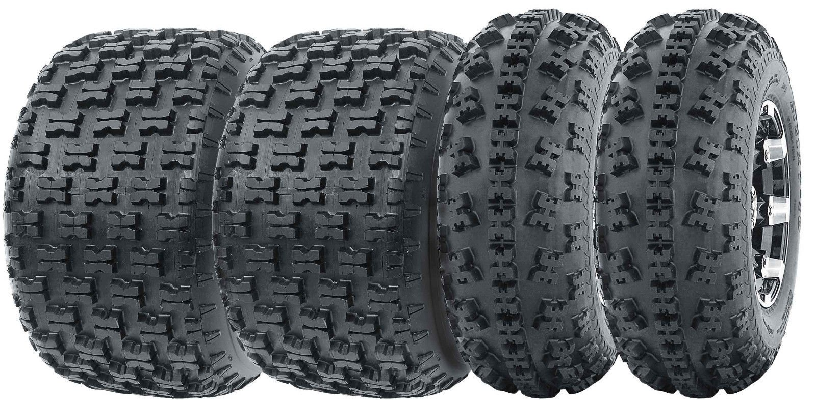 Set of 4 WANDA Sport ATV Tires AT 23x7-10 Front & 20x10-9 Rear /6PR