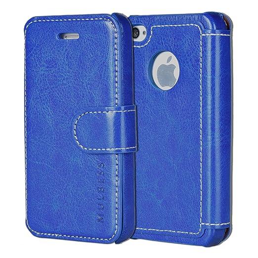 376 opinioni per Custodia iPhone 4s- Cover iPhone 4s- Mulbess Custodia In Pelle Con Flip Cover