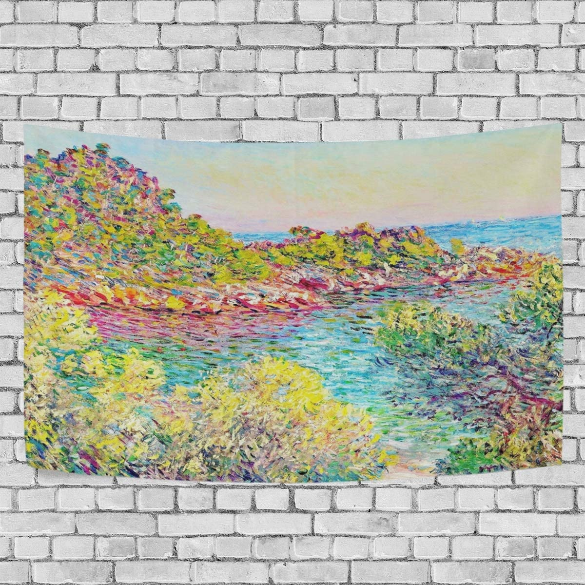 Nugier Claude Monet Near Montecarlo 90 X60 DIY Tapestry Wall Hanging for Home Living Room Bedroom