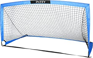 INTEY Soccer Goal 6'6''x3'3'' Portable Soccer Net with Carry Bag for Games and Training for Kids and Teens