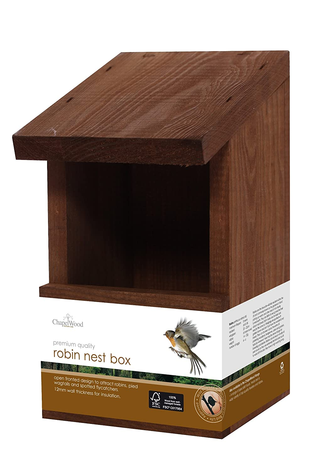 Chapelwood Wild Bird Classic Robin Nest Box CPW0889