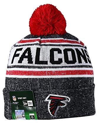 8572fcb7c88 Amazon.com  ATL FALCONS Unisex Winter Knit Beanie Hat With Pom Pom One Size  Fits Most Multicolor  Clothing