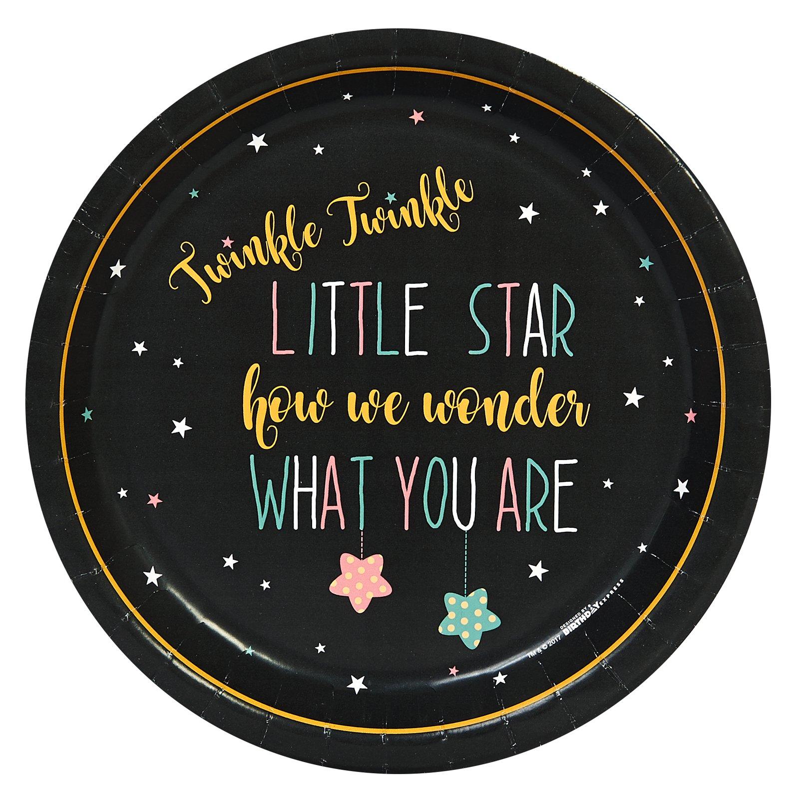 Twinkle Twinkle How We Wonder Dinner Plate (48) by BirthdayExpress