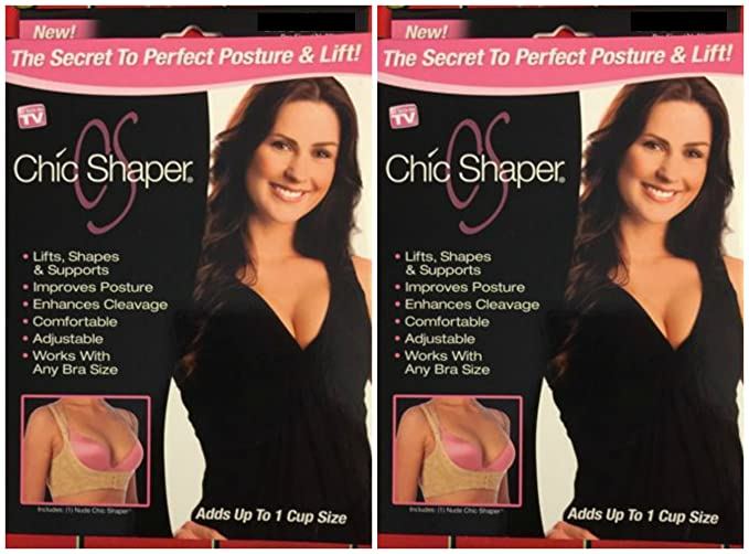 30783ff7ced89 Lot of 2 Chic Shaper As Seen on Tv Breast Life Natural Large Fits ...