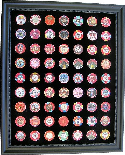 casino chip display frame