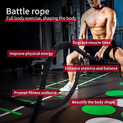 9M 38mm Heavy Battle Rope Home Gym Strength Core Training Exercise Battling Rope