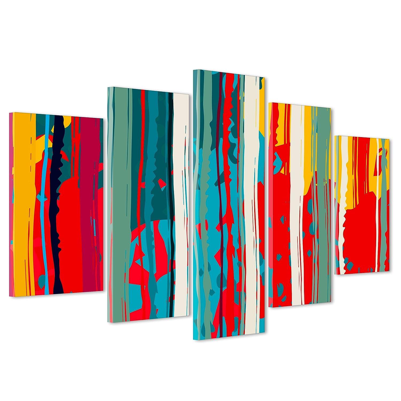 ConKrea QUADRO SU TELA CANVAS - INTELAIATO - PRONTO DA APPENDERE - Pollock - Arte Astratta Astratto - 190x70cm (cod.3018) Oculis