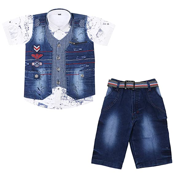 a67e2446a8 Little Generation Boys Suit with Half Sleeves Shirt