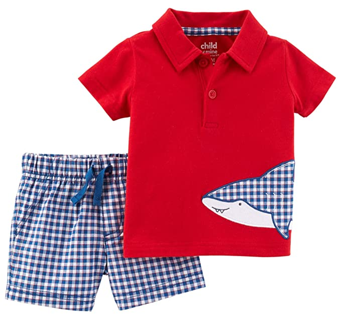 190731a9a Amazon.com  Carter s Child of Mine Shark Baby Boys 2 Piece Polo ...