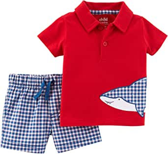and Shorts Playwear Set Shorts Sets Simple Joys by Carters Baby-Boys 3-Piece Polo Tee