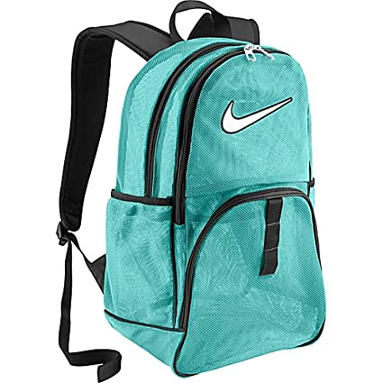 3e9718a332 Image Unavailable. Image not available for. Color  Nike Brasilia 6 Large Mesh  Backpack Aqua