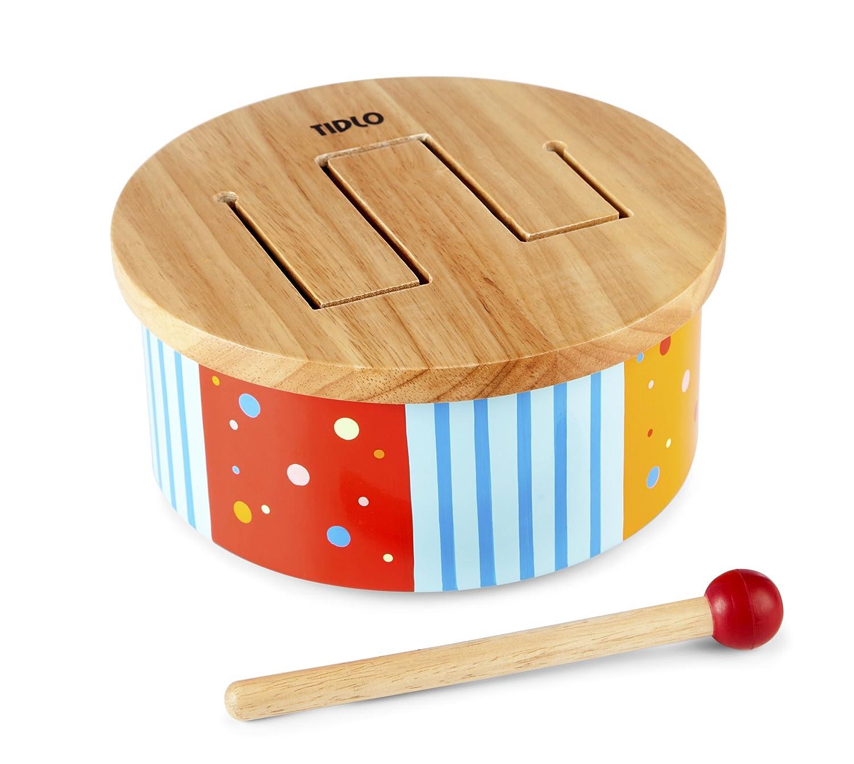 Tidlo Wooden Rainbow Drum T-0211