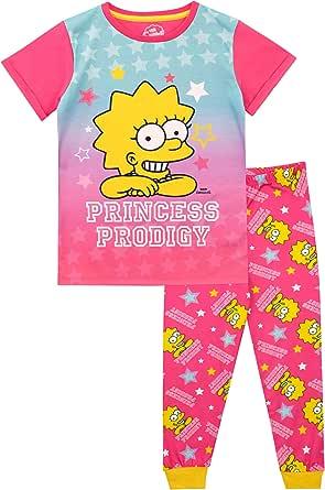 The Simpsons Pijamas de Manga Corta para niñas Lisa Simpson Rosa 11-12 Años: Amazon.es: Ropa y accesorios