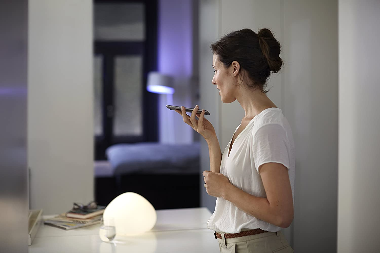 Philips 9.5 W Hue White Single LED E27 Light Bulb, Works with ...