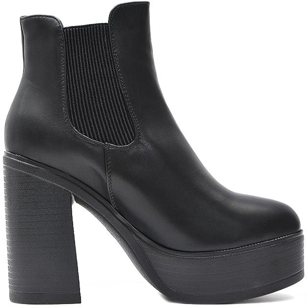 92d00c5a6a81d0 Vain Secrets Plateau Chelsea Ankle Boots Stiefeletten Damen Schwarz   Amazon.de  Schuhe   Handtaschen