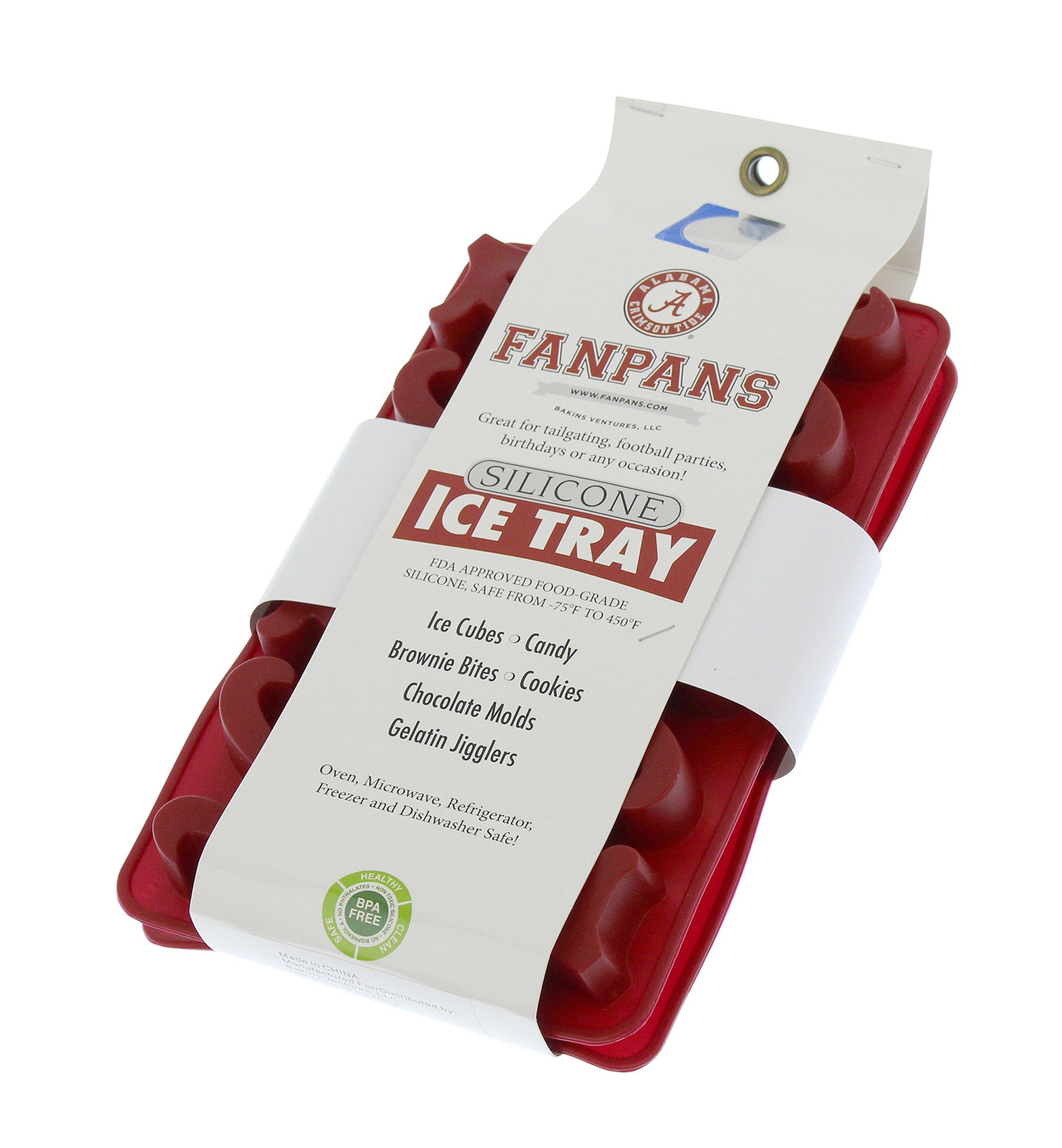 NCAA Alabama Crimson Tide Ice Trays & Candy Mold, One Size, Crimson