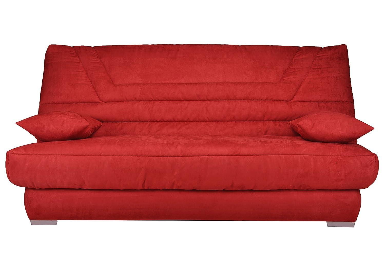 Banquette GBELL40EB906 Bellatrix CanapÉ Clic-Clac Tissu Rouge 193 x 95 x 101 cm