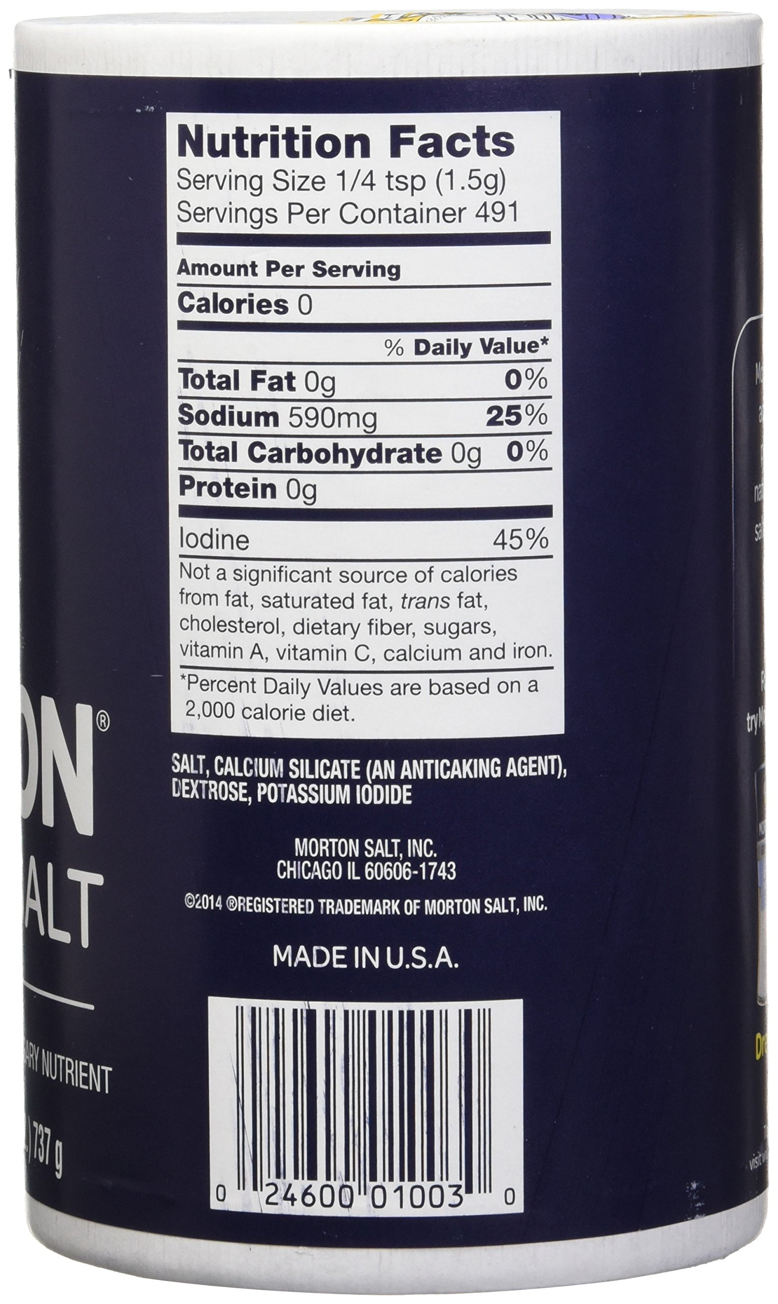 Morton Iodized Salt, 26 oz, Pack of 2 by Morton (Image #4)