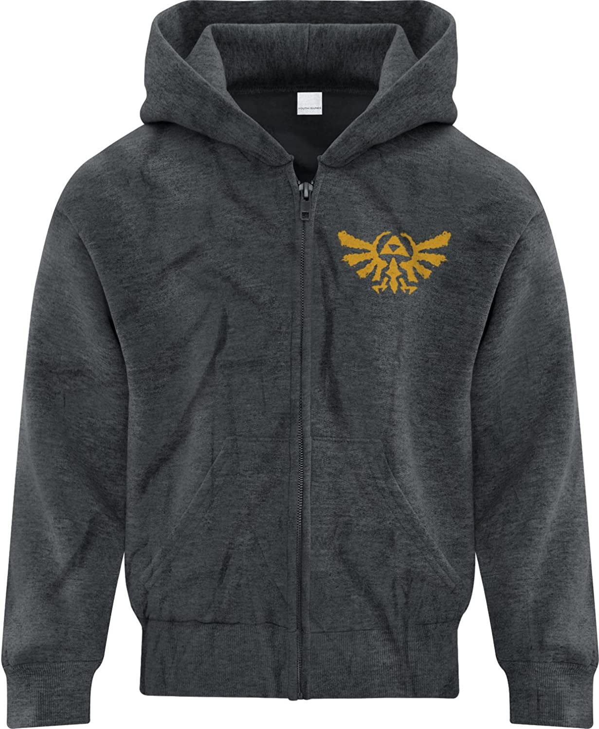 BSW Youth Boys Rorschach Zelda Triforce The Golden Power Zip Hoodie 1246-1HSYZ