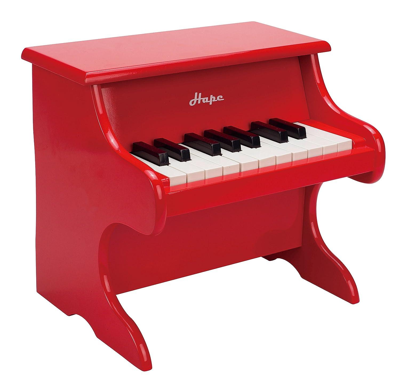 Hape - E0318 - Instrument de Musique en Bois Premier Age - Piano Rouge