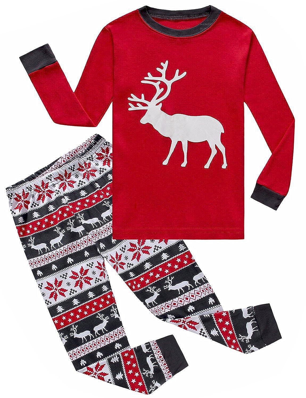IF Pajamas Christmas Reindeer Little Boys Girls Pjs Long Sleeve Kid Pajamas Sets