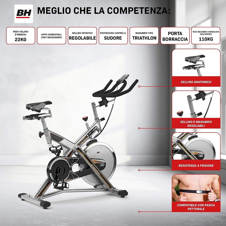 Bh Fitness MKTJET Bike PRO H9162RFIT Indoor Bike Magnética ...