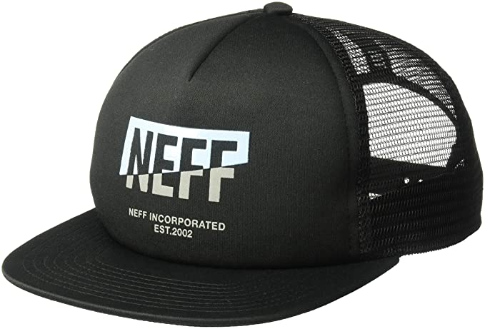 5c80c90a Amazon.com: NEFF Men's Adjustable Snapback Trucker Hat, Black/ice ...