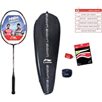 Li-Ning Turbo X 90-II Carbon-Graphite Badminton Racquet with Free String & Bag & and GP-20 Grip