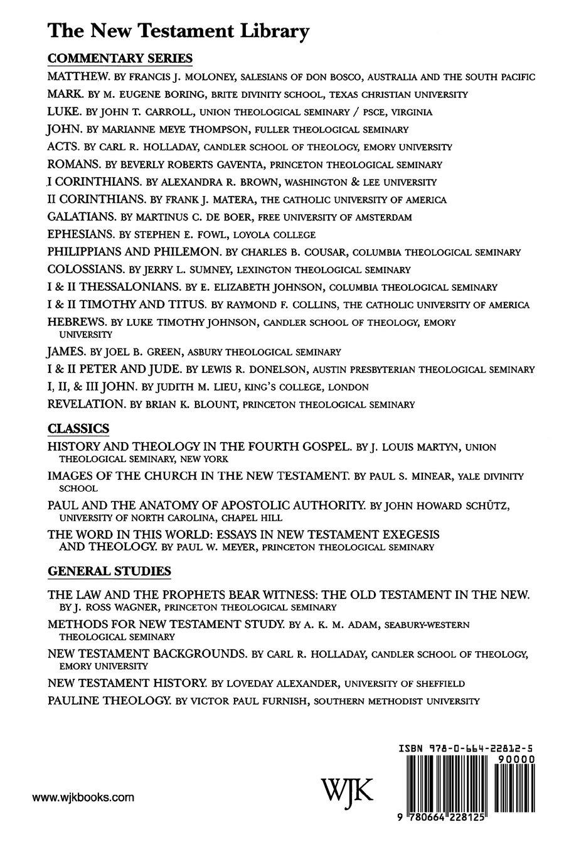 Paul and the Anatomy of Apostolic Authority (2007) (New Testament ...