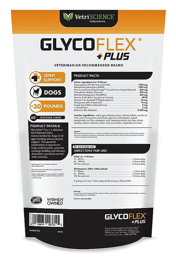 VetriScience Laboratories Glyco Flex Plus Suplemento Conjunta para Perros: Amazon.es: Productos para mascotas