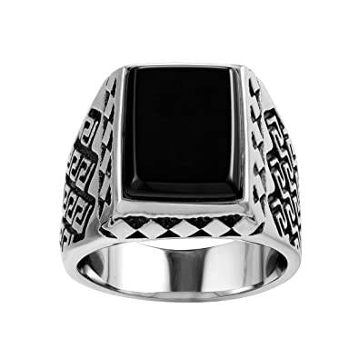Karisma Manner Edelstahl 316l Manner Ring Agate Achat Stein