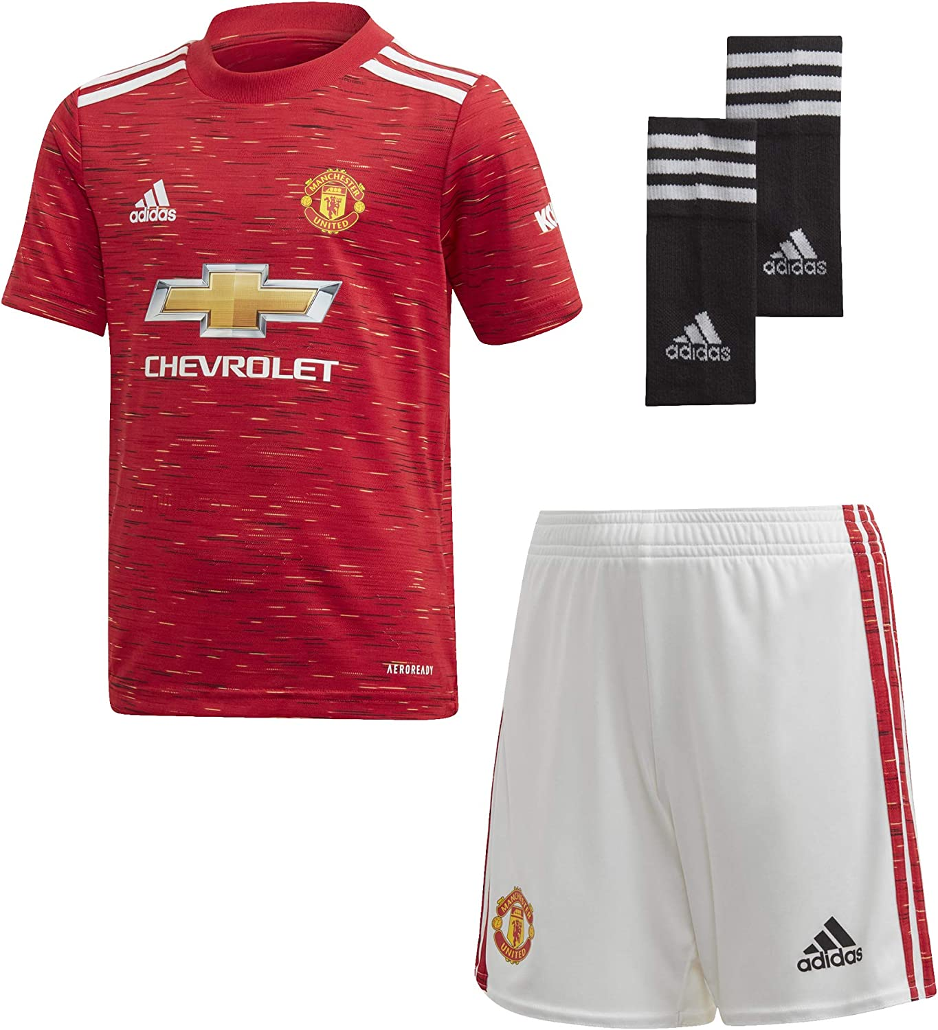 Amazon Com Adidas Manchester United Kids Home Kit 2020 21 4 5 Years Sports Outdoors
