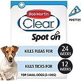 Bob Martin Flea Clear Fipronil Spot on 3 Tube for Small Dog