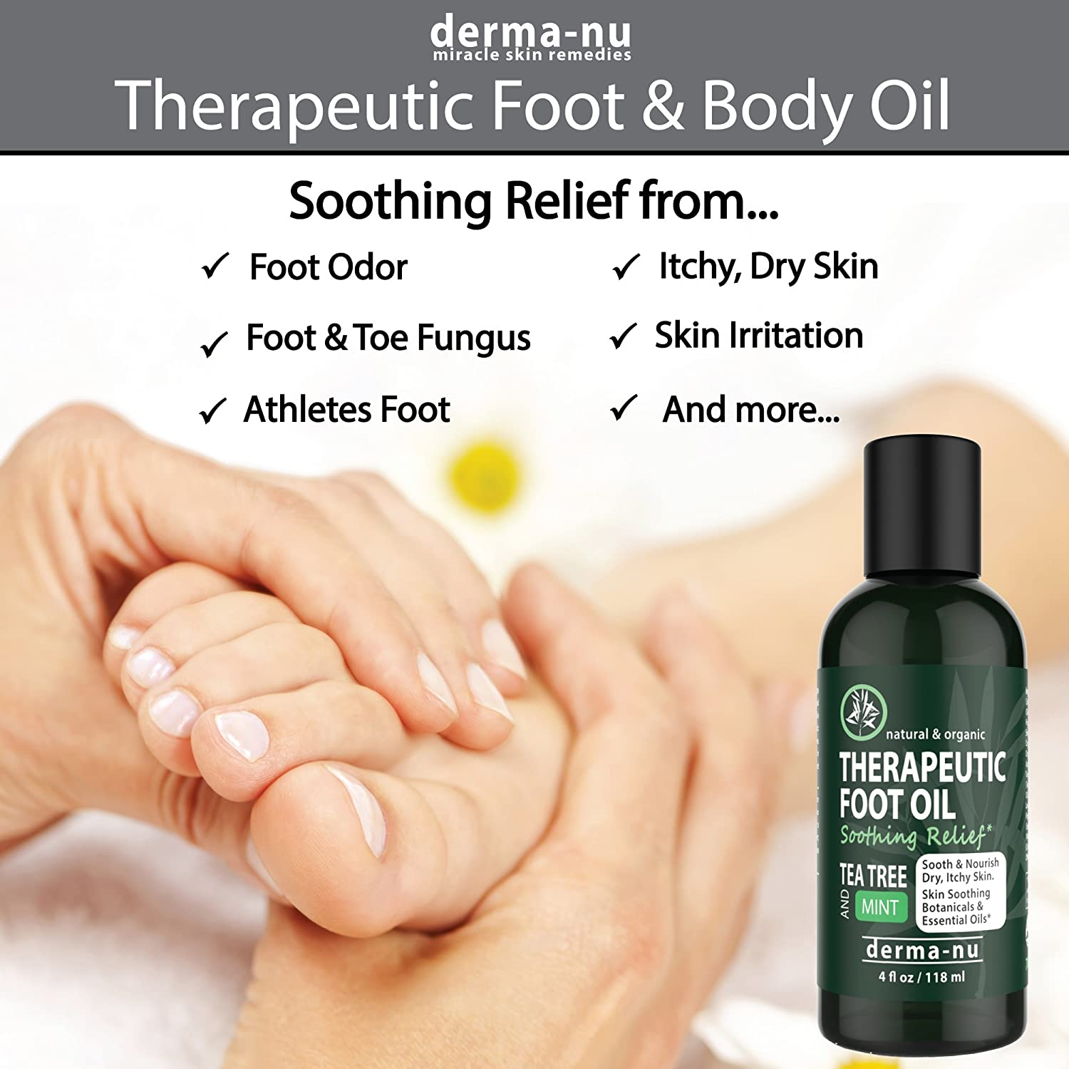 Amazon BEST THERAPEUTIC FOOT OIL Control toe and foot