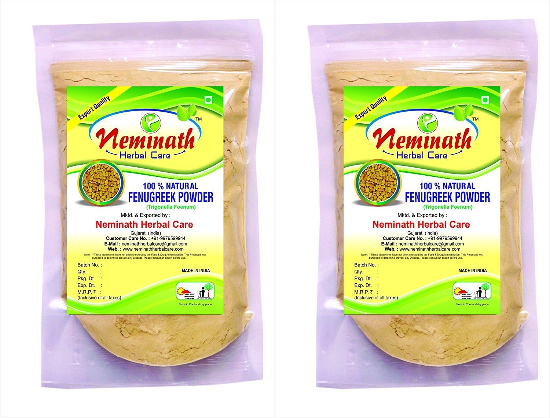 100% Natural Fenugreek Seeds (TRIGONELLA FOENUM GREACUM) Powder for LONG HAIRS NATURALLY (PACK OF 2) (454g)