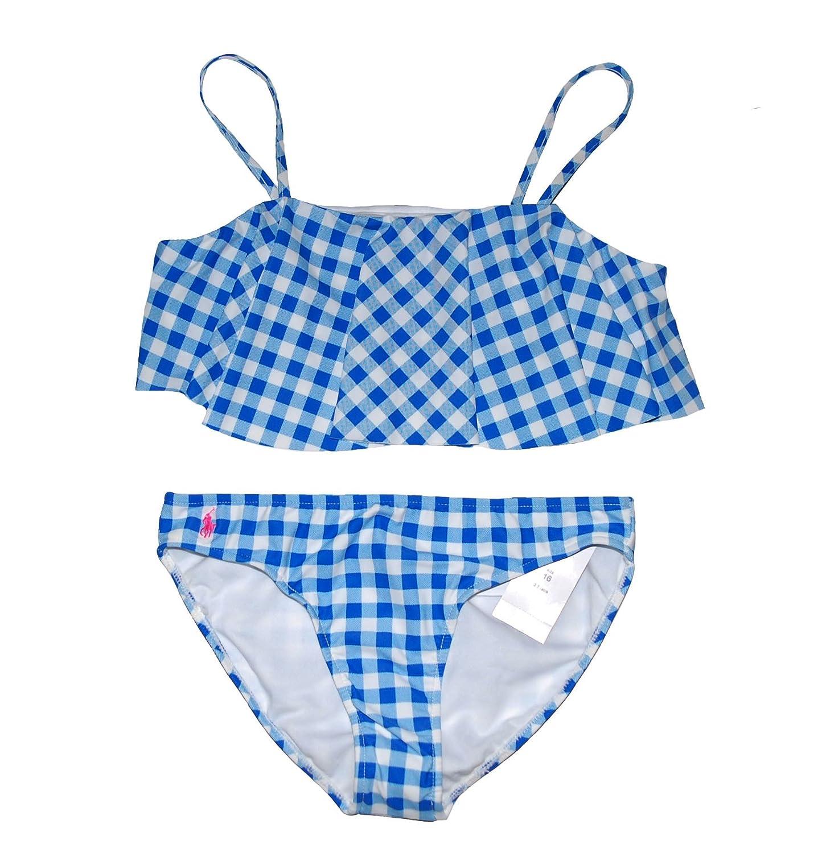 4007cf1d9c Amazon.com: RALPH LAUREN Girls Gingham 2 Piece Bikini Set Swimsuit ...