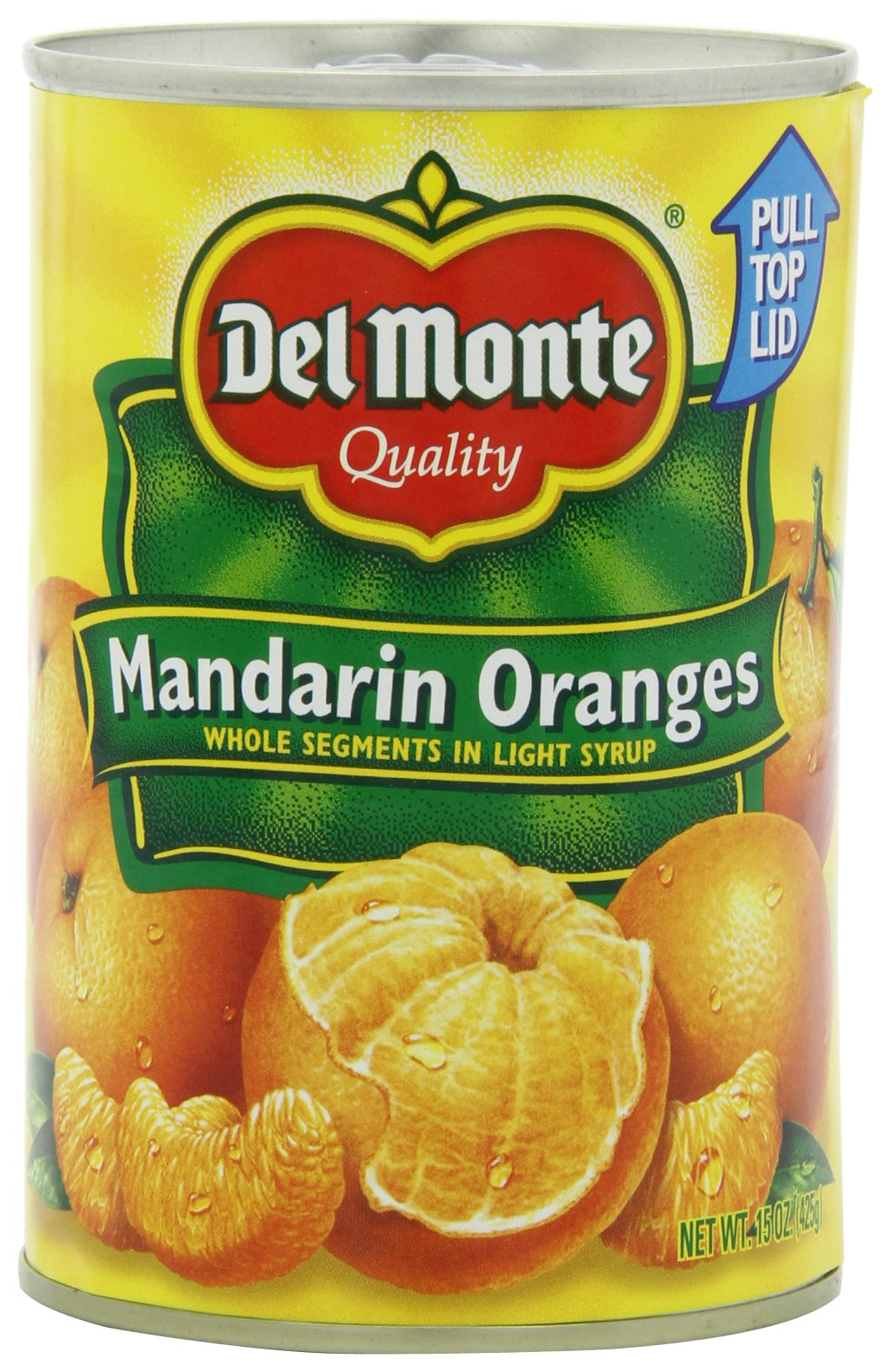 Del Monte Mandarin Oranges Whole Segments in Light Syrup, 15-Ounce (Pack of 8)