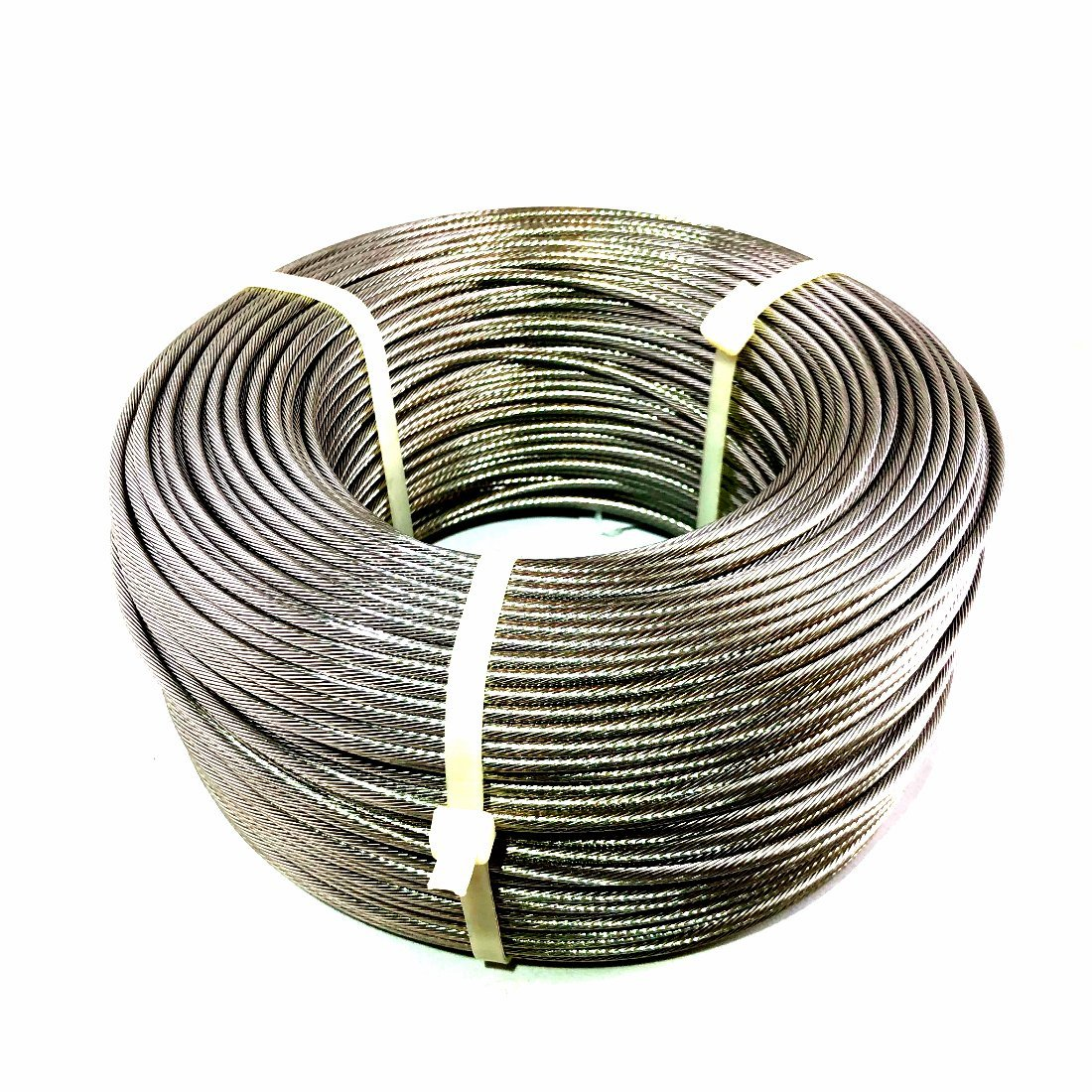 LUX 1/8 1x19 Strand Stainless Steel Cable Best Cable for Railing T316 - 500 feet Generic
