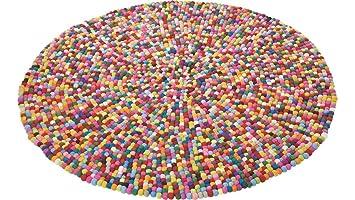 Teppich bunt rund  Amazon.de: Kare Design Teppich bunt