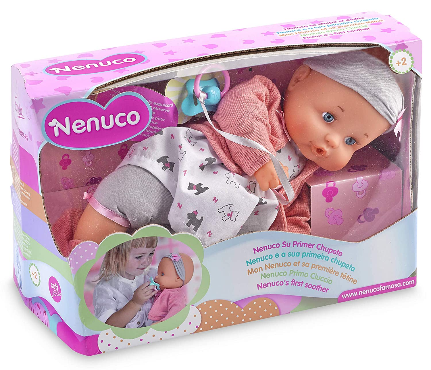Amazon.com: Nenuco – Your First Pacifier (Famous 700014042): Toys ...