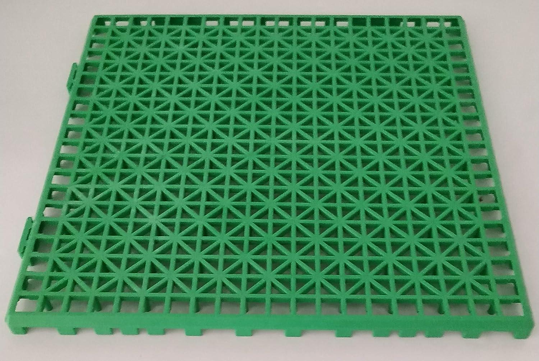 Sol adapt/é pour lext/érieur ou lint/érieur Sol en Plastique NOVINGRECONS Lot de 24 Dalles en polypropyl/ène 30 x 30 cm 2,1 m/² Environ 30x30cm Bleu
