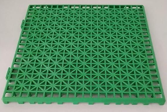 NOVINGRECONS Baldosa PP 30x30cm Verde (Paquete 24 ud.). Suelo Plastico. Suelo Apto para Exteriores o Interiores.: Amazon.es: Jardín