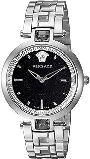 Versace Montre Swiss-Quartz analogique pour Femme avec Bracelet en Acier  Inoxydable Van030016 25984aaf940