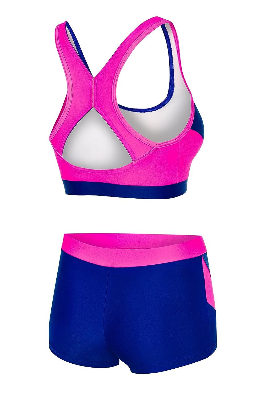 060fd973a09c Aqua Speed® Fiona Tankini | Tessuto Vita | Resistente al Cloro/Crema  Solare/Olio, Taglia:34, Colore:Farbe 43 / Neon Pink - Navy: Amazon.it:  Elettronica
