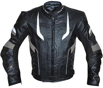 German Wear – Chaqueta de moto chaqueta de piel chopper Chaqueta Cruiser