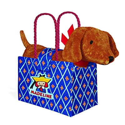 YOTTOY Madeline Collection | Genevieve The Dog Soft Stuffed Animal Plush Toy in Madeline Tote Bag: Toys & Games