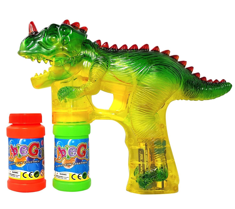 amazon com haktoys 1900d dinosaur bubble gun shooter blower