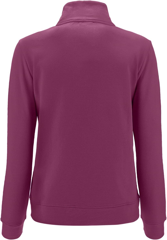 Freddy Sweatshirt mit Stehkragen und Reißverschluss mit dekoriertem Band Violett