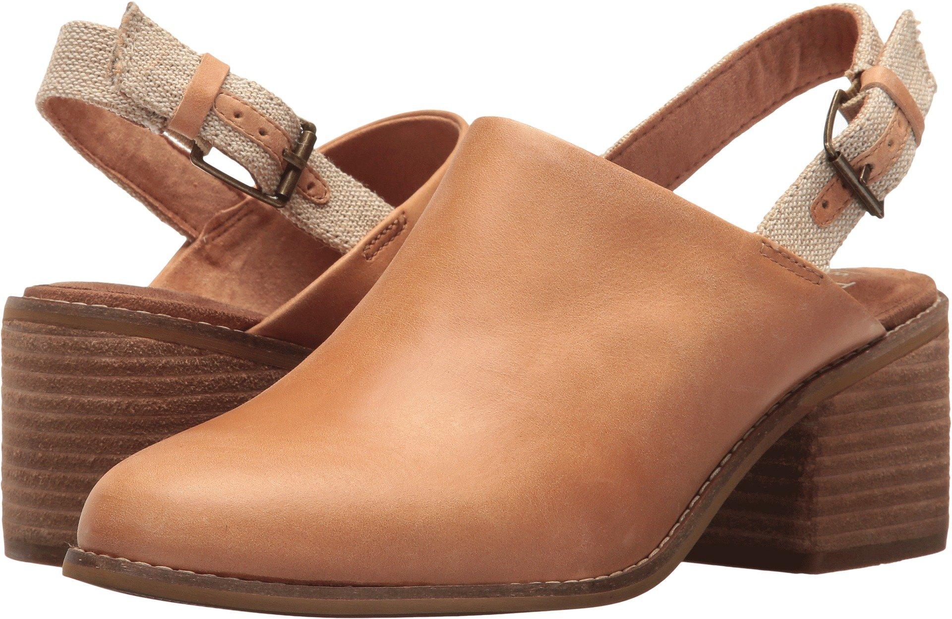 TOMS Women's Leila Slingback Honey Leather 7.5 B US